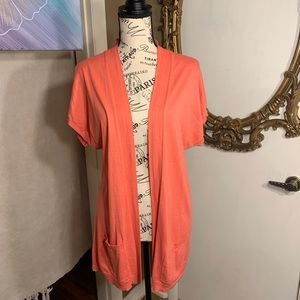 ✨3 for $30✨ LOFT coral short sleeve cardigan